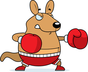 Cartoon Wallaby Boxing