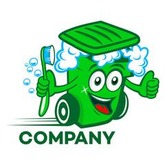 Trash bin mascot