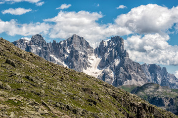 pale of san martino seen from forcella bocche
