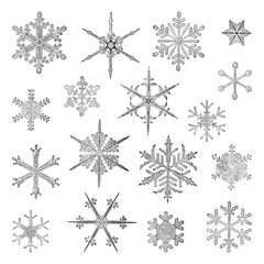 Snowflake collection / vintage illustration