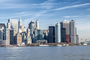 Downtown Manhattan across the Hudson River, New York, Manhattan, United States of America Fotoväggar