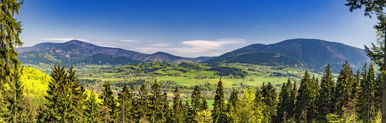 Mountains in Beskydy /panorama/