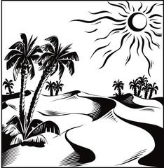 African desert oasis