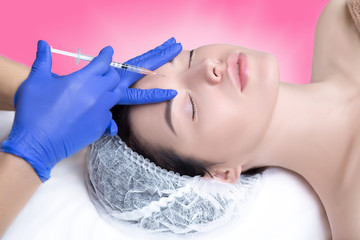 Injections of hyaluronic acid anti-wrinkle treatment