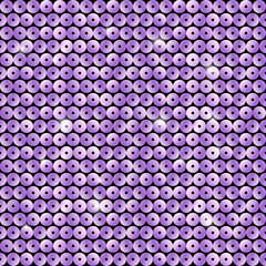 Seamless pattern with purple sequins