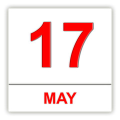 May 17. Day on the calendar.