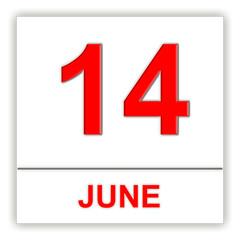 June 14. Day on the calendar.
