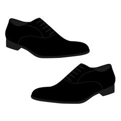 Men's black shoes.