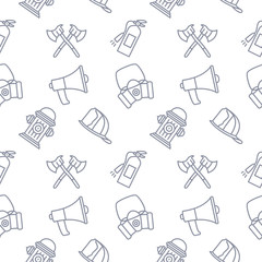 FireFighter seamless pattern background