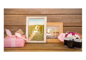 Photo Frame with Mother's Day Gifts Mockup