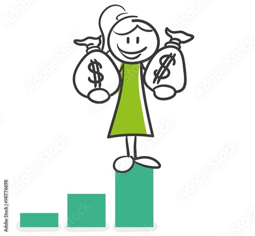 stick figure series green woman geld generieren imagens e vetores de stock royalty free no. Black Bedroom Furniture Sets. Home Design Ideas