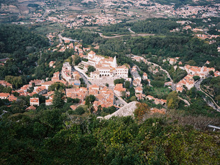 High angle view of typically Mediterranean old town