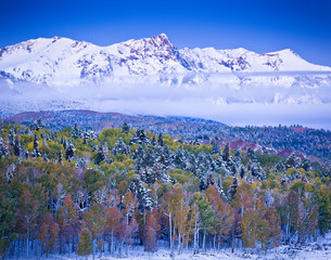Winter and Autumn in the San Juan Mountains of Colorado