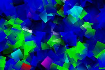 Mosaik in grün und blau