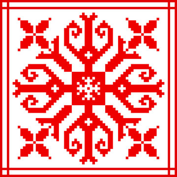 Belarusian ethnic ornament, seamless pattern. Vector illustration