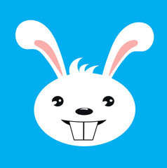 Happy rabbit illustration