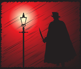 Jack The Ripper In The Light Scribble Grunged