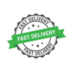 Fast delivery stamp illustration