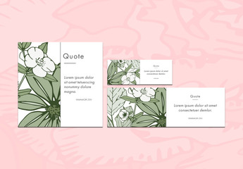 3 Floral Social Media Post Layouts 2