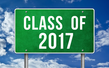 Class of 2017 - road sign concept