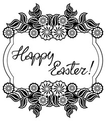 "Artistic written greeting text ""Happy Easter!"""