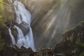 Cogne, Aosta Valley, Italy. Lillaz waterfalls