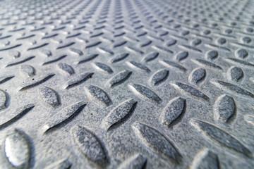 Aluminum Checker plate sheet Up close