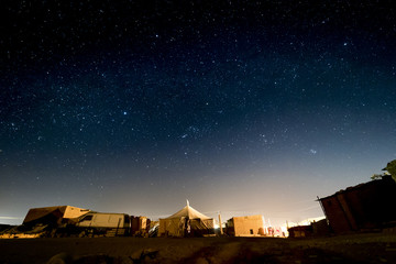 Starry landscape in the Sahara