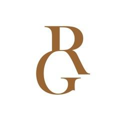 a061e4204c9f letter GR brown color logo vector