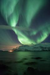 Northern light in Tromso, Norway, Europe