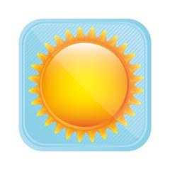 yellow light sun icon, vector illustration design