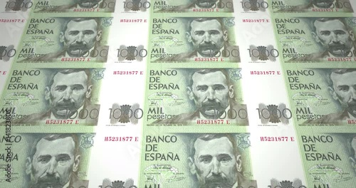 Banknotes Of One Thousand Spanish Pesetas Spain Cash Money Loop Stock Footage And Royalty Free Videos On Fotolia Vid 141823806