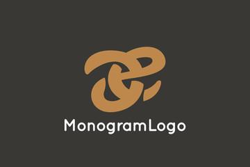Letter A and E Monogram Logo Design Vector