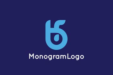 Letter B and F Monogram Logo Design Vector