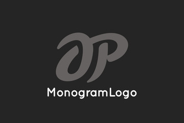 Letter A and P Monogram Logo Design Vector