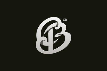 Letter B and C Monogram Logo Design Vector