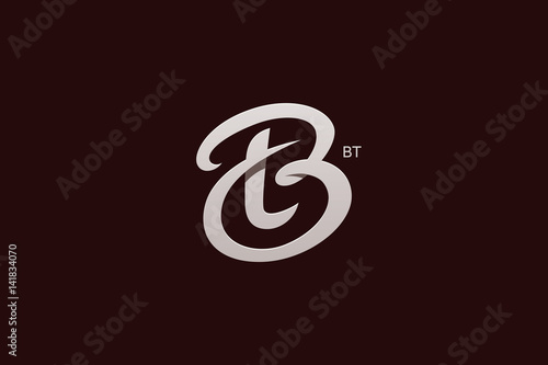 letter b and t monogram logo design vector