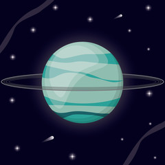 uranus planet solar system vector illustration eps 10