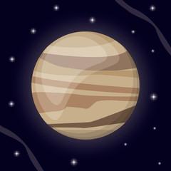 venus planet solar system space vector illustration eps 10