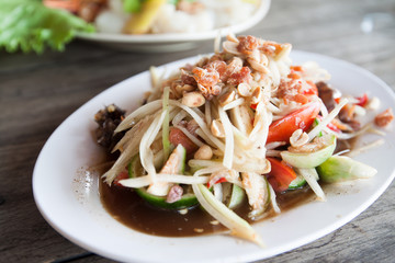 Som-Tum, papaya salad