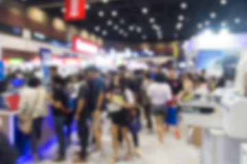 Abstract blurred event with people for background.