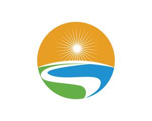 Letter River Logo Template