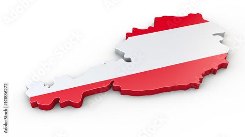 3d Karte Osterreich.3d Karte Oder Umriss Von Osterreich Stockfotos Und