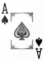 large index playing card ace of spades