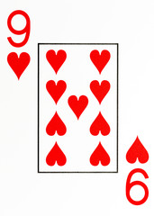large index playing card 9 of hearts