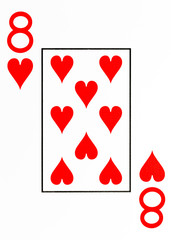 large index playing card 8 of hearts