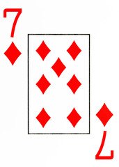 large index playing card 7 of diamonds
