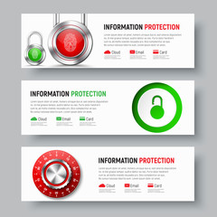 Design of white banners to protect data and information.