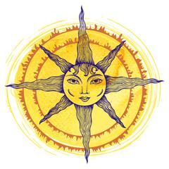 Illustration of a sun