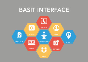 Basit Interface Icon Concept